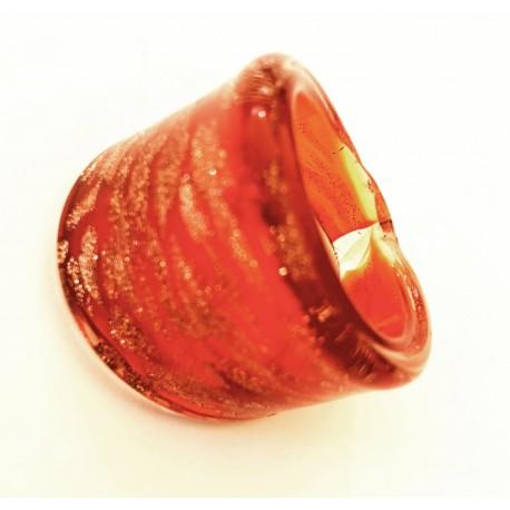 pas cher en ligne à la vente grossiste bague rouge en verre de murano