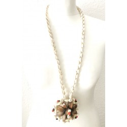 vintage shellfish necklace