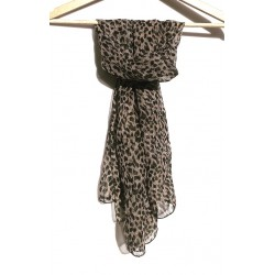 leopard vintage scarf