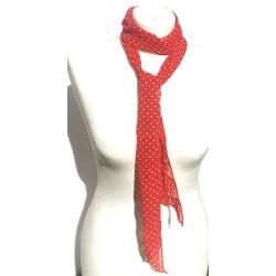 red vintage scarf