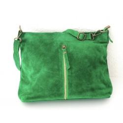 a suede bag