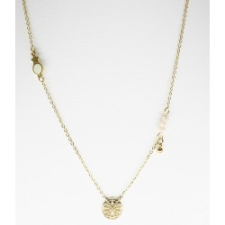 gold steel necklace