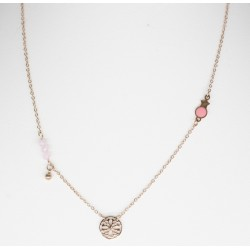 pink steel necklace